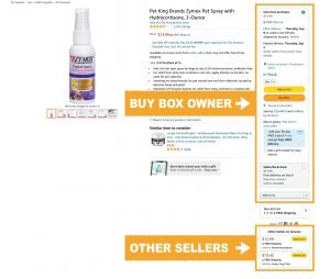 Buy Box Example on Amazon by ZQUARED